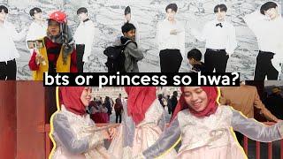 Video Rebutan Member BTS! NGAKAK! Jadi Princess di Korea | SOHWAcam MP3, 3GP, MP4, WEBM, AVI, FLV Juli 2019