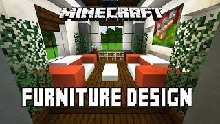 Minecraft Tutorial:  How To Make Living Room Furniture   (Modern House Build Ep. 20)