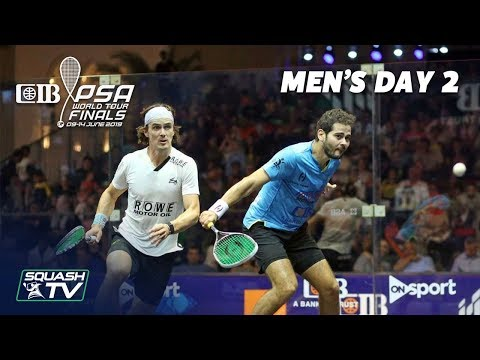 Squash: CIB PSA World Tour Finals 2018/19 - Men's Day 2 Roundup