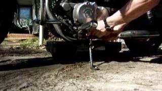 8. Honda Rebel 250 oil change procedure.  Part 1 of 2
