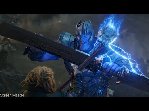 Thor vs Thanos First Fight | Avengers: Endgame [Open Matte/IMAX HD]