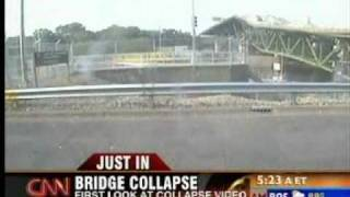 35W Bridge Collapse LIVE VIDEO ACTUAL Minneapolis Minnesota