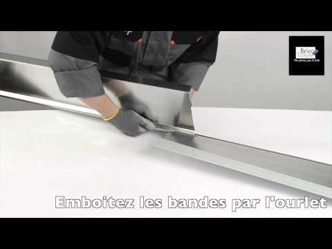 comment poser une bande de rive en zinc