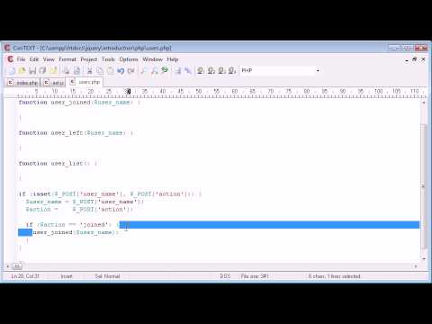 jQuery - Users online sample application Part 3