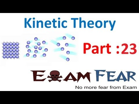 Physics Kinetic Theory part 23 (Law of Equipartition of Energy) CBSE class 11