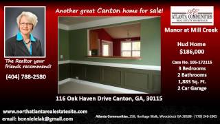 Canton (GA) United States  City new picture : Manor at Mill Creek Hud Home for Sale Canton GA