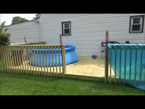 Intex easy set up pool 8ft x 30 in on my new deck