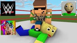 Video Monster School : Baldi's Basic Wrestling Challenge - Minecraft animation MP3, 3GP, MP4, WEBM, AVI, FLV Oktober 2018