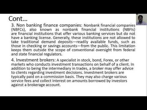 Financial Intermediaries & Development Financial Institutions (DFIs)
