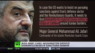 Iran has hit back at new sanctions imposed on it by the U.S., saying Washington must withdraw from bases close to Iran's borders ...