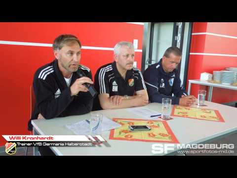 Video: Pressekonferenz - VfB Germania Halberstadt gegen 1. FC Magdeburg 2:2 (0:0).