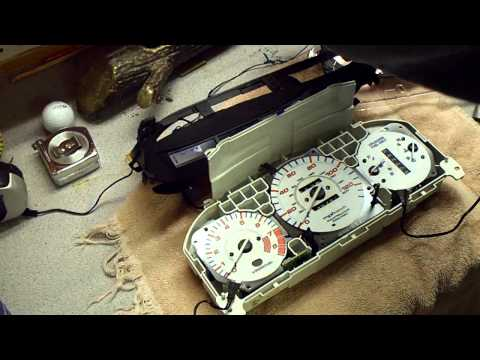 gauges - This video shows step by step on how to install gauge faces on a Honda Civic. I ordered mine on Ebay just search for (96-00 EK Civic EX EL Glow Gauge White F...