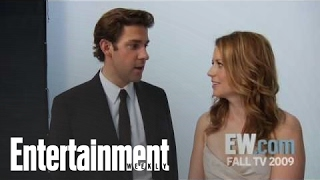 The Office: John Krasinski & Jenna Fischer Joke About Jim & Pam's Baby | Entertainment Weekly