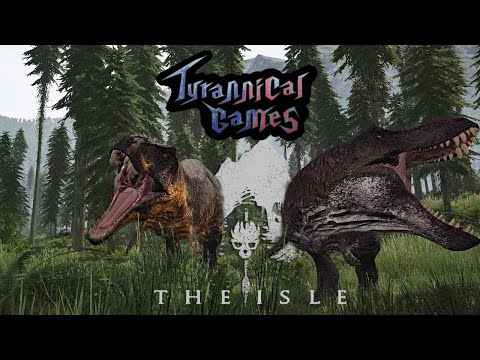 TYRANNOSAURUS REX GAMEPLAY - THE ISLE - REX PAIR HUNT THE DINOS OF LIFE FINDS A WAY