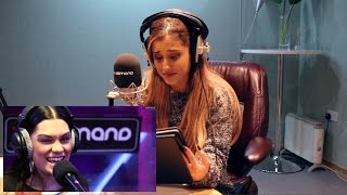 Ariana Grande reacts to the Jessie J Shred | Interview