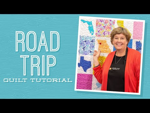 "Make A ""Road Trip"" Map Applique Quilt With Jenny Doan Of Missouri Star (Video Tutorial)"