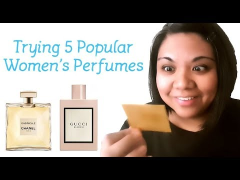 Sniffing 5 Popular Women's Designer Perfumes (Gucci, Chanel, Moschino, Paco Rabanne)