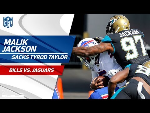 Video: Malik Jackson Sacks Tyrod Taylor on Huge Jags Blitz! | Bills vs. Jaguars | NFL Wild Card Highlights