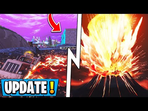 *NEW* Fortnite Update! | Full Volcano Event, All Map Changes, Drum Gun!