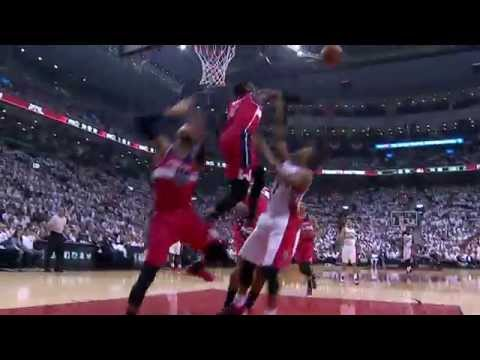 Video: Kyle Lowry Can't Get Past The Wall of The Wizards