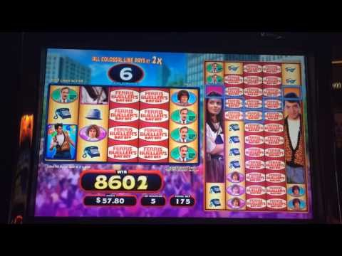 Ferris Bueller's Day Off Slot Machine Bonus – Free Spins – BIG WIN!!!