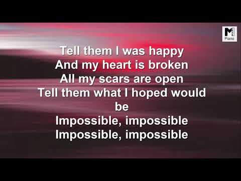 "The lyric of ""Impossible"" by James Arthur"
