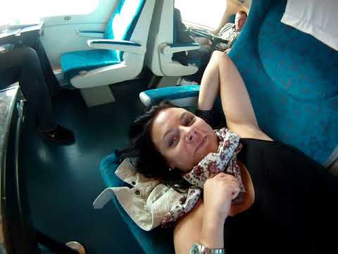 Onboard the Pendolino. Karvina/Prague. in Czech Republic. Good morning to you...!
