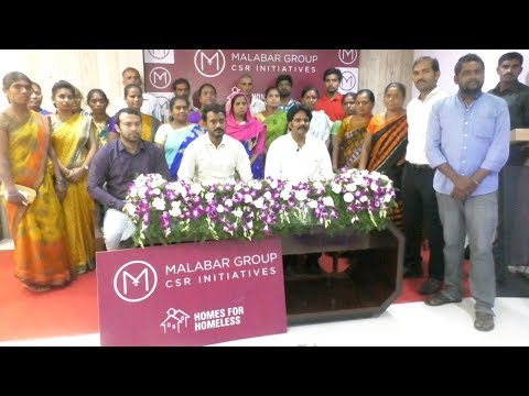 Malabar Gold & Diamonds - Home for Homeless by Malabar Group in Visakhapatnam,Vizagvision News...