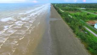 Mukah Malaysia  City pictures : Flying parallel to coastline, Mukah beach, Sarawak, East Malaysia
