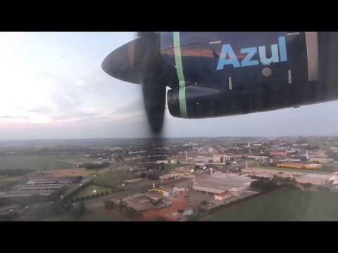 SBMG: Pouso (Landing) Azul ATR 72-600 PR-AQP em Maringá (MGF) procedente de Londrina (LDB) SBLO.