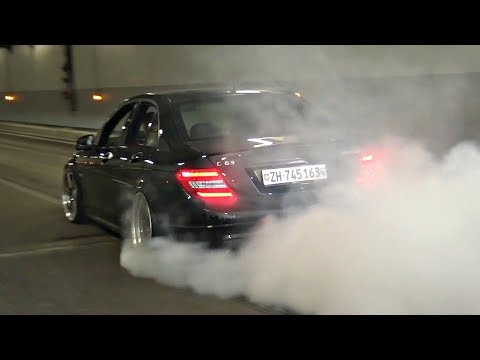 BEST Street Burnout & Donuts Compilation 2018! - Carrera GT, F40, Mustang, BMWs & More!