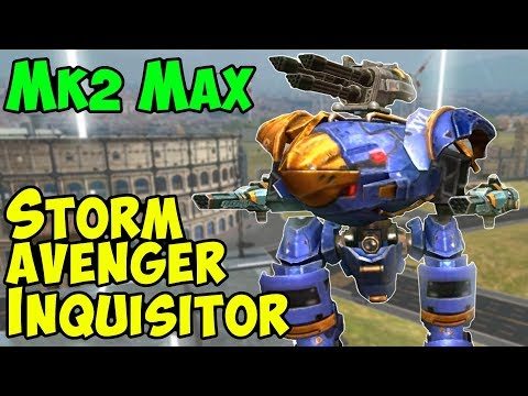 War Robots Mk2 Max Avenger Storm Inquisitor Brawling Gameplay - WR