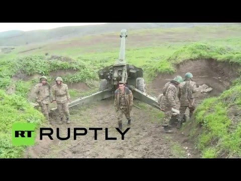 Позиции артиллерии Армении в зоне Карабахского конфликта