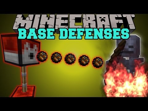 Minecraft: BASE DEFENSES (MOB DESTROYING TURRETS!) Turrets Mod Showcase
