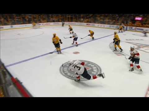 Video: Pekka Rinne beaten by Yandle shot from neutral zone