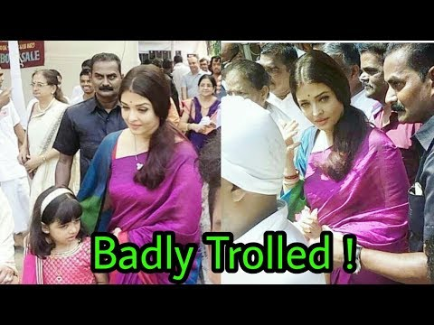Aishwarya Rai bachchan got badly trolled by people in durga pooja | Latest Shocking