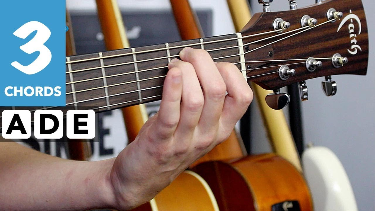 Gloria – Beginners Guitar lesson tutorial – 10 songs with 3 chords
