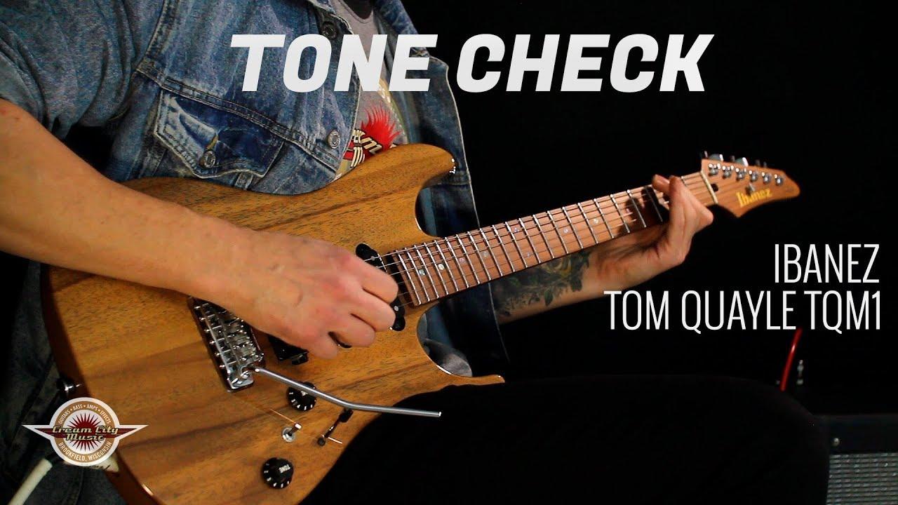 TONE CHECK: Ibanez Tom Quayle TQM1 Electric Guitar Demo NO TALKING