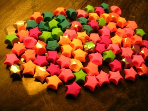 DIY Paper Craft :: How to make Paper Stars(lucky stars) – Innovative paper arts