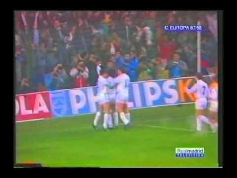 1988 April 6 Real Madrid Spain 1 PSV Eindhoven Holland 1 Champions Cup