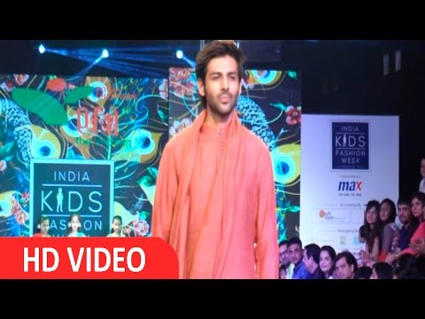 Kartik Aaryan On Ramp At India Kids Fashion Week