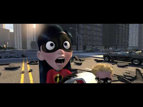 The Incredibles(2004) - The Incredibles Vs the robot