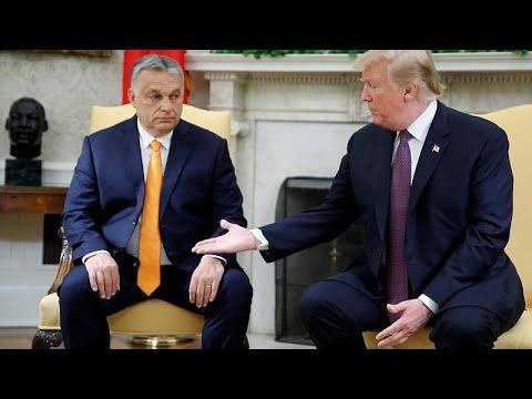 USA: Donald Trump empfängt Viktor Orban im Weißen Hau ...
