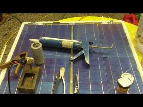 Homemade Solar Panels Diy tutorial, complete build