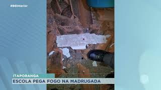 Escola particular pega fogo na madrugada em Itaporanga