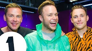 Olly Murs joins Chris Stark for the world's finest water-spitting based game - Innuendo Bingo (with Scott Mills on BBC Radio 1!)