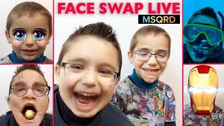ON CHANGE DE VISAGE #1 ! Face Swap Live - Appli MSQRD Masquerade