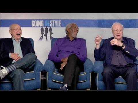 GOING IN STYLE interviews - Michael Caine, Morgan Freeman, Alan Arkin, Zach Braff, Ann-Margret