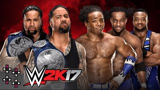 SUBSCRIBE: http://bit.ly/upupdwndwnIt's WWE 2K17 Match Simulations, brought to you courtesy of TonyPizzaGuy! Who will finally come out on top in a battle of the Blue Brand's best two tag teams?Like us on Facebook: http://www.facebook.com/UpUpDwnDwnFollow us on Twitter: http://twitter.com/UpUpDwnDwnCheck us out on Instagram: http://instagram.com/upupdwndwn/GET YOUR UPUPDOWNDOWN SHIRTS HERE: http://shop.wwe.com/250-100-001-1.htmlAND HERE: http://shop.wwe.com/250-100-002-1.htmlEUROSHOP T-SHIRTS: http://euroshop.wwe.com/en_GB/xavier-woods-upupdowndown-t-shirt/W10436.htmlAustin Creed's Twitter: http://twitter.com/XavierWoodsPhDAustin Creed's Twitch: http://twitch.tv/Austincreed/profile