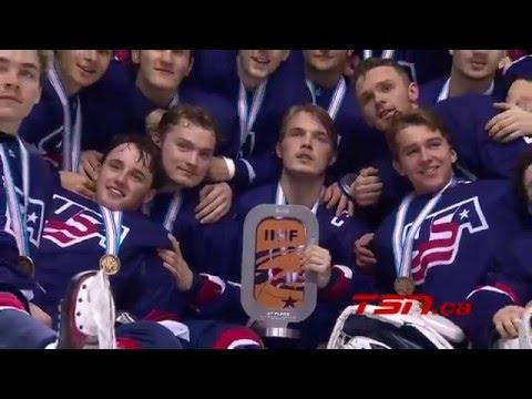 U18 Worlds: Game Highlights - USA vs. Canada (4/24/16)